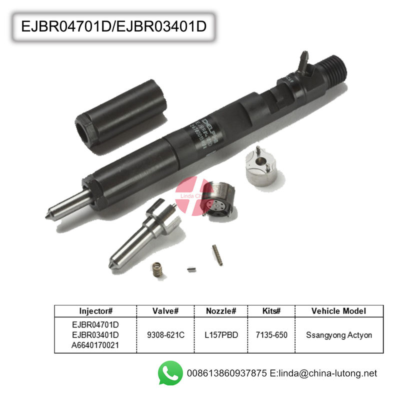 common rail diesel fuel injectors EJBR03401D for Delphi CR Fuel Systems